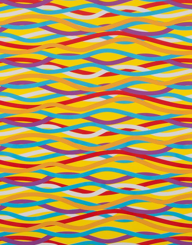 Neon Wavy Stripes – 9012