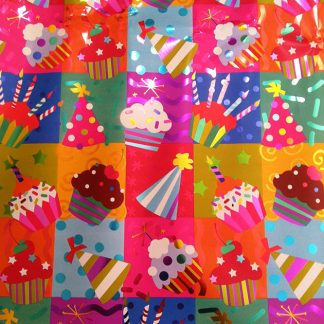 Birthday Hats & Cupcakes – Foil – 1232