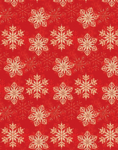 Red Snowflake – Foil – RXF1125