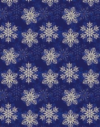 Blue Snowflakes – Holo – RXHO1124